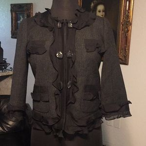 Rebecca Taylor Silk and Wool Jacket Size 8